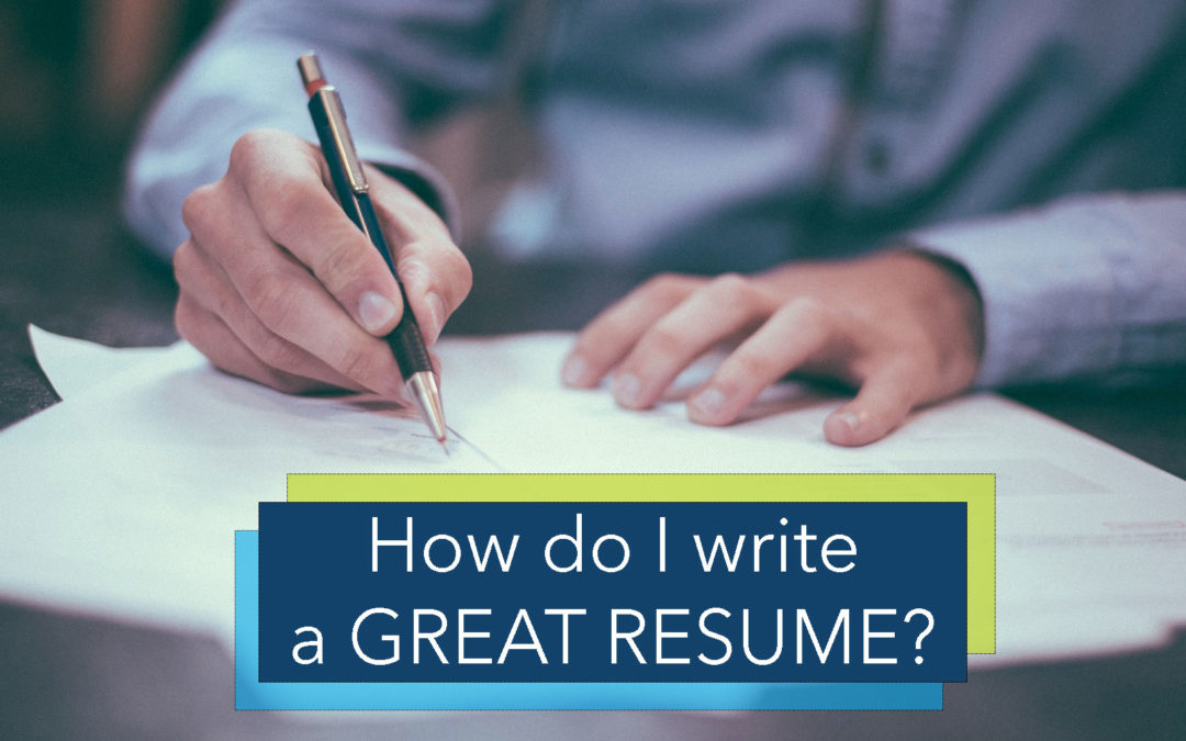 How do I write a great resume and cover letter?